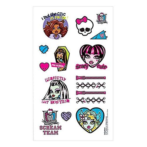 Monster High - 16 Haut Tattoos - ab ca. 4 Jahre - aus USA (Monster High Haut)