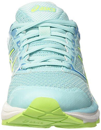 Asics Damen Gel-Phoenix 8 Laufschuhe, UK Mehrfarbig (Aqua Splash / Safety Yellow / Diva Blue)