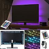 ALED LIGHT 5050 Wasserdicht LED STREIFEN, TV-Hintergrundbeleuchtung in 16 Verschiedenen Farben und 4 Farbwechseleffekte inkl. 24key Fernbedienung, 3A Netzteil, 4 Led Streifen in total