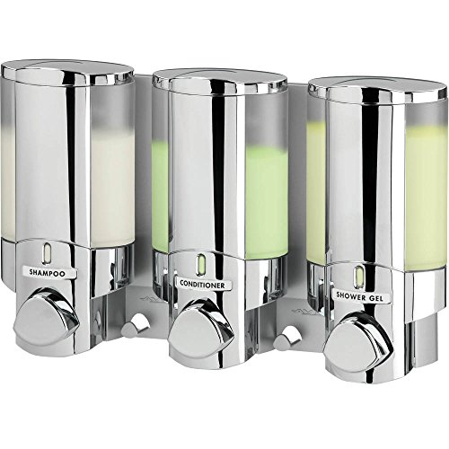 Aviva Triple Bathroom amp; Shower Dispenser Chrome