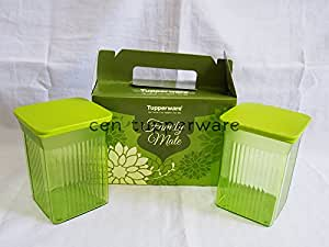 Tupperware Family Mate Square container/Jar to serve/ store/Gift- Set of 2 (800ml each)
