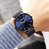 Altsommer Herren Business Quarz Uhr aus 2cm Edelstahl Mesh Armband Uhr,Armband mit Wasserdicht,Analog Quarzuhr Männer Lederarmbanduhr Damen Uhr Herren, 24cm Länge (C)