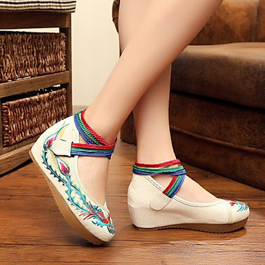 Vermelho Tela Das Jane E Conforto Heel Mary Plana Casual Mulheres Liso Sapatos Preto azul CUPwABqcB4