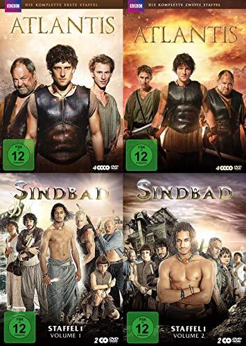BBC Fantasy Serien Paket - Atlantis Staffel 1 & 2 + Sindbad Staffel 1.1 & 1.2 + Bonus 14 DVD Limited Edition