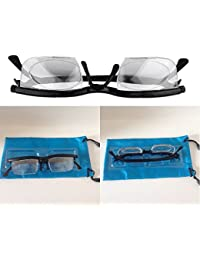 AST Works Dial Eye Glasses Vision. Reader Reading Glasses Flexible Frames Case Adjustable.
