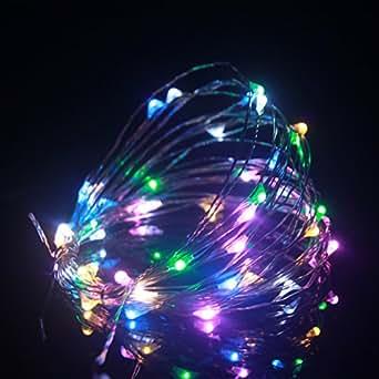 ALED LIGHT® 2M 20 LED LUCI MINI LUCCIOLE LUCE ALBERO DI NATALE PRESEPE BIANCO PER ESTERNO ADDOBBI NATALIZI. Bianco Caldo/Bianco Freddo/Rosso/Blu/Giallo/Verde/Porpora/Rosa/RGB (Bianco caldo) (Bianco caldo) (RGB)