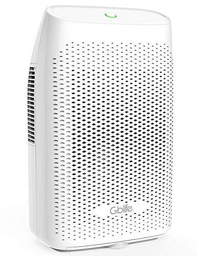 GBlife elektrischer Luftentfeuchter, Entfeuchter/Raumentfeuchter mit Wassertank, ultra-leises, auto-abschaltbarer Lufttrockner für Schlafzimmer/Badezimmer/Büro (weiß) (2000 ML) -