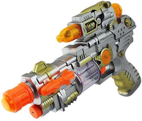 Preisvergleich Produktbild Crazy Gun Weltall Spielzeug Pistole Gewehr LICHT-SOUND GUN Spezialeinheit Elite