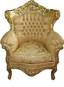 Casa Padrino King Fauteuil baroque 'Mod 2Doré/motif or/or avec Bling Bling Strass Meubles–Style Ancien