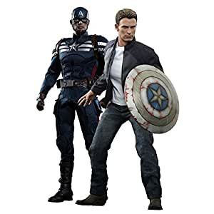 Hot Toys - Htmms243 - Figurine - Cinéma - Captain America & Steve Rogers - The Winter Soldier - 2 Packs - 1/6 Mm