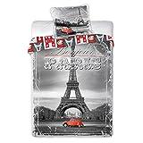 2CV rot A Paris Bettwäsche Bettbezug 140x 200+