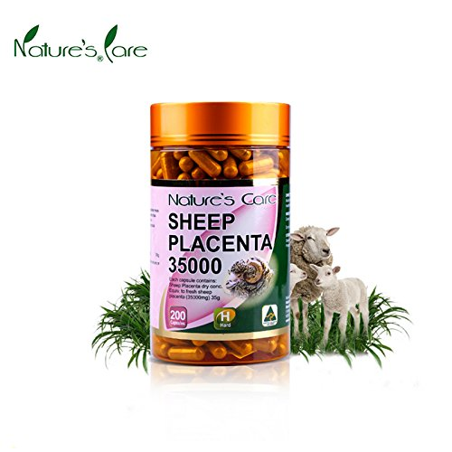 Nature's Care Sheep Placenta 35000mg 200 Cap, Supporting anti-aging, skin revitalising and improvement in physical vitality and the promotion of general well being, Made in Australia Test