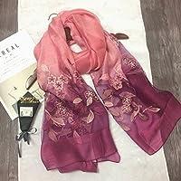 OME&QIUMEI Seidenschal Weiblichen Stickerei Schal Schal