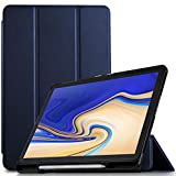 IVSO Hülle für Samsung Galaxy Tab S4 T830/T835, Slim Schutzhülle mit Auto Aufwachen/Schlaf Funktion Geeignet für Samsung Galaxy Tab S4 T830/T835 10.5 Zoll 2018, Blau