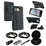 Color: robot black item: lumia 950 case, [black] protective hybrid armor dual layer case with kickstand belt clip for microsoft lumia 950 overview: if you are looking to provide the ultimate protection for your microsoft lumia 950, then think about s...