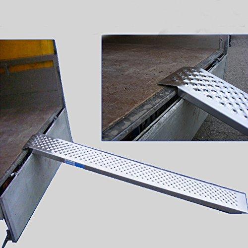 Baumarktplus Alu Auffahrrampe 200 cm 200 kg Auffahrschiene Verlade Rampe Verladerampe Verladerampen Laderampe Laderampen Motorradrampe (1 Stück)