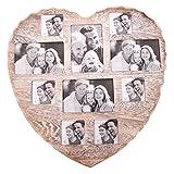 Invero® Große 10 Foto Multi Picture Shabby Chic Wand Jahrgang Rustic Herzförmige Rahmen für Home Küche oder Geschenke