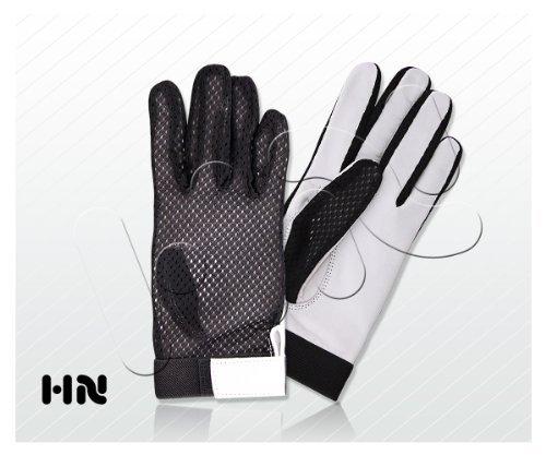 Kango Fitness Handschuhe Verhaltensregeln für Herren aus weichem Lammleder Design Retro weiß L