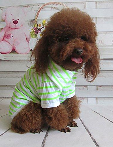 LLD Pet Dog Vêtements Chemise rayée Vêtements pour animaux domestiques Vêtements (2 couleurs sont disponibles) animal ( couleur : A , taille : M )