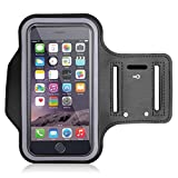 #6: Armband for Running by Azacus | Mobile Holder for your entire jogging and exercise time | Black in colour with glowing white stripe | Both for Male and Female | Adjustable Free Size | Screen Size upto 6 inch | Hole for your Earphone or audio wire | Compatible with iPhone 7, 8, X, Samsung galaxy S9, S8, S7, One plus 5t, 5, 3t, Honor view 10, 9 lite