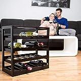Relaxdays Weinregal aus Holz H x B x T: ca. 52 x 52 x 25 cm robustes Flaschenregal für Wein Weinflaschenregal in edlem schwarz Weinflaschenhalter mit 4 Ebenen für 20 Flaschen Flaschenhalter, schwarz - 2