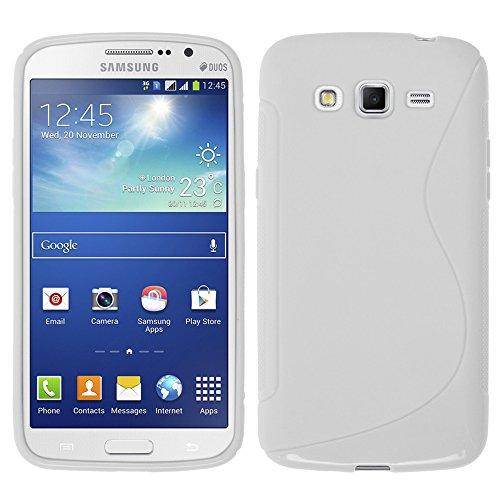 VCOMP® S-Line TPU Silikon Handy Schutzhülle für Samsung Galaxy Core LTE 4G SM-G386F - WEISS