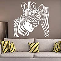 Animal Wall Sticker Zebra Removable Art Mural Vinyl Wall Decal Zebra Stripe Home Decor for Kids Room Livingroom Decoration58X58 cm