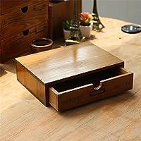 Vintage bandeja de madera estante de almacenamiento cajón Box Sundries cofres decoración de escritorio de madera armario Rack de almacenamiento organizador Craft kangsanli
