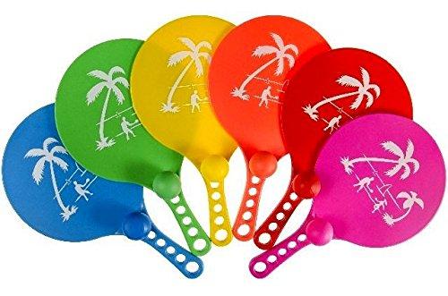 LOT DE 6–Set Schläger PVC 'Beach Ball' 33cm verschiedene Farben–Qualität coolminiprix®