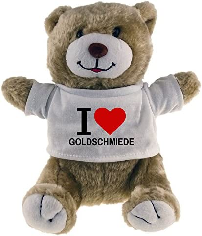 Peluches ours classique i love love love objets beige B0108FAZZQ 875743