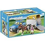 Playmobil Granja - Vehículo con remolque de ponis (5223)