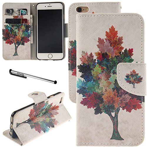 Galleria fotografica Urvoix iPhone 6/iPhone 6s case, carta supporto Custodia a portafoglio in pelle – Design Maple Tree Flip Cover per 11,9 cm iPhone6/6s (non per 6Plus)