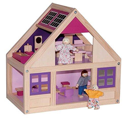 Großes Puppenhaus Puppenstube Spielzeughaus Holz Haus Dollhouse Holzspielzeug