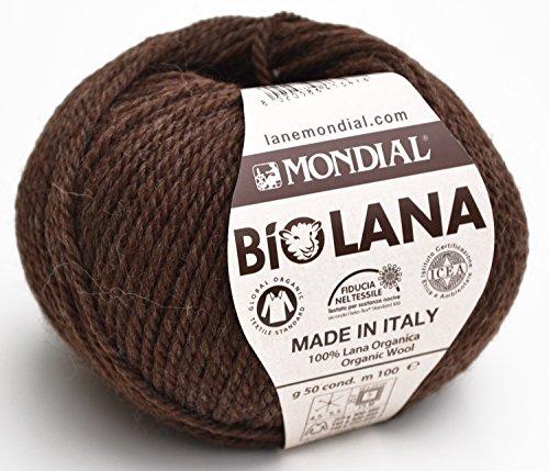 ler Bio Wolle, Kragen. 345–Caffe, Wolle Bio, gestrickte, Haken (Echo Pullover Männer)