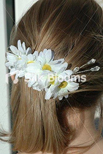 Silk Blooms Ltd Snow White Daisies Mariage Cheveux, Fleurs, Daisy Chain Cheveux Fermoir