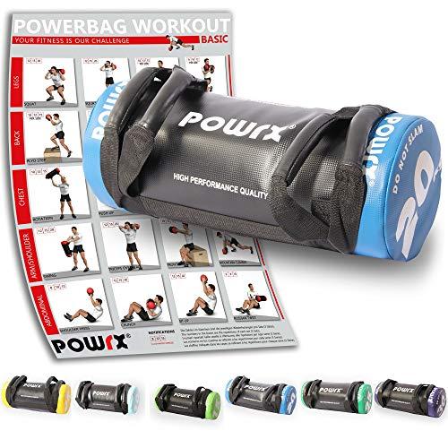 POWRX - Sandbag 5 kg, 10 kg, 15 kg, 20 kg, 25 kg, 30 kg - Perfecta para mejorar el equilibrio, fuerza,...
