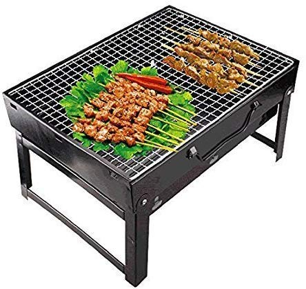 DS ENTERPRISE Folding & Portable Outdoor Barbeque Grill Toaster BBQ Briefcase Style Folding Barbecue Grill Toaster Barbeque