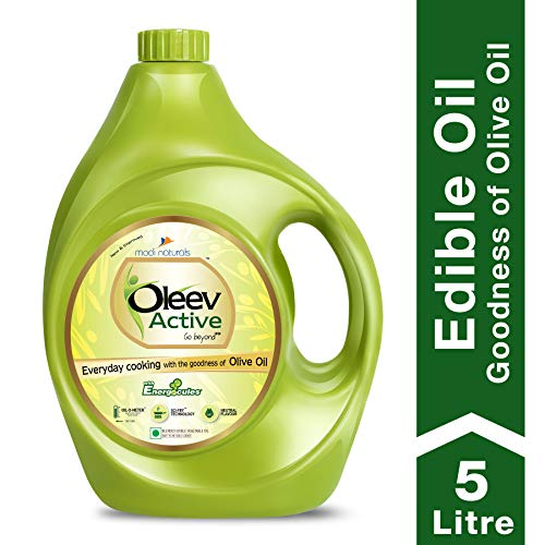 Oleev Active, Goodness of Olive Oil for Everyday Cooking, Edible Oil, Jar,...