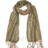 LOVARZI Damenschal Grün Lebhafter Schal für Frauen - Frauen-tücher - Paschmina-schal