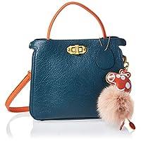 Zeneve London Womens Satchel Bag, Blue - 1191830961