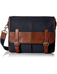 Fossil Canvas Navy Messenger Bag (MBG9240400)