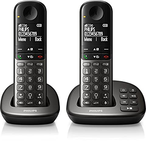 Philips XL4952DS/38 schnurloses Telefon (leicht bedienbar, große Tasten, hörgerätekompatibel)