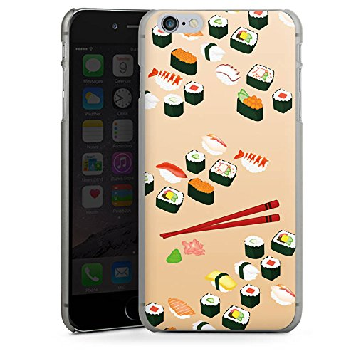 Apple iPhone X Silikon Hülle Case Schutzhülle Sushi Essen Fastfood Hard Case anthrazit-klar
