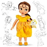 Oficial Disney Bella y la Bestia 38cm Belle Animador muñeca con la viruta de accesorios