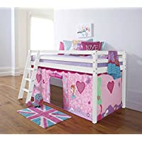 Noa and Nani - Midsleeper Cabin Bed with Fairies Tent - (White)