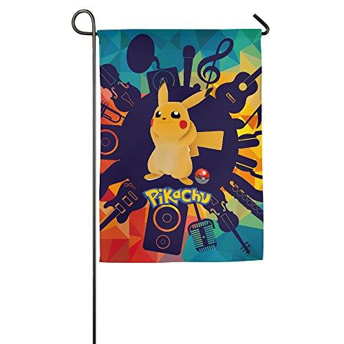 Pikachu Pokemon Home Garden Flags
