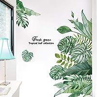 Stickers Muraux Plante Tropical Autocollant Décoratifs Autocollants Mur Etanche Amovible Feuilles Verts Grand Décoration…