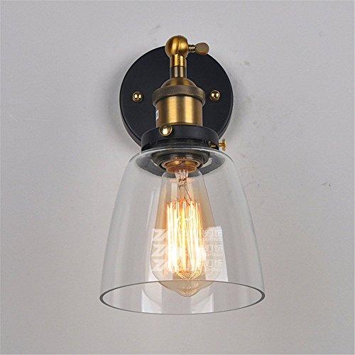 Thomas Beleuchtung Wand (ZGYQGOO LED Wandleuchten Wandleuchte Leuchte Up Down Dekorative Wandbeleuchtung Retro Industrial Wind Glaswandleuchte Transparente Glaswandlampe Thomas Edison)