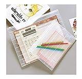 Lvcky 10 Stück A4 Briefumschläge Papiermappe Dokumententasche Organizer mit silberfarbenem Griff Reißverschluss transparent Set klein