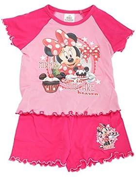 Disney Childrens - Conjunto de pijama de Minnie Mouse modelo Cupcake Heaven para niñss